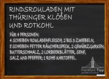 Rindsrouladen mit Thüringer Klößen und Rotkohl
