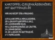 Kartoffel-Ziegenkäseknödel mit Quittengelée