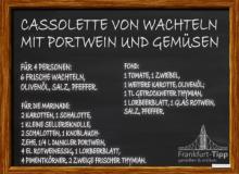 Cassolette von Wachteln mit Portwein und Gemüsen