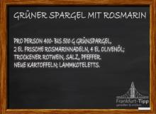 Grüner Spargel mit Rosmarin